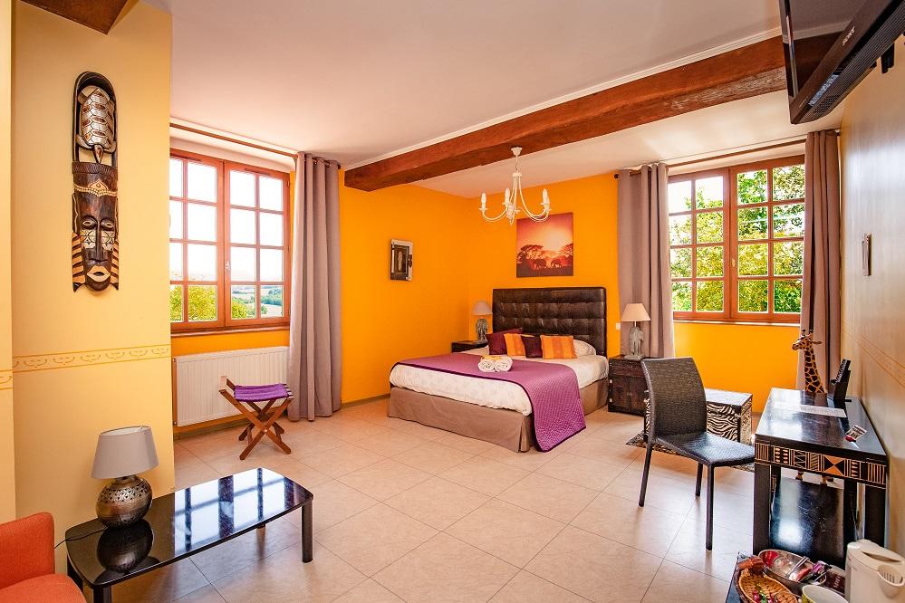 Chambre orange le Castagné