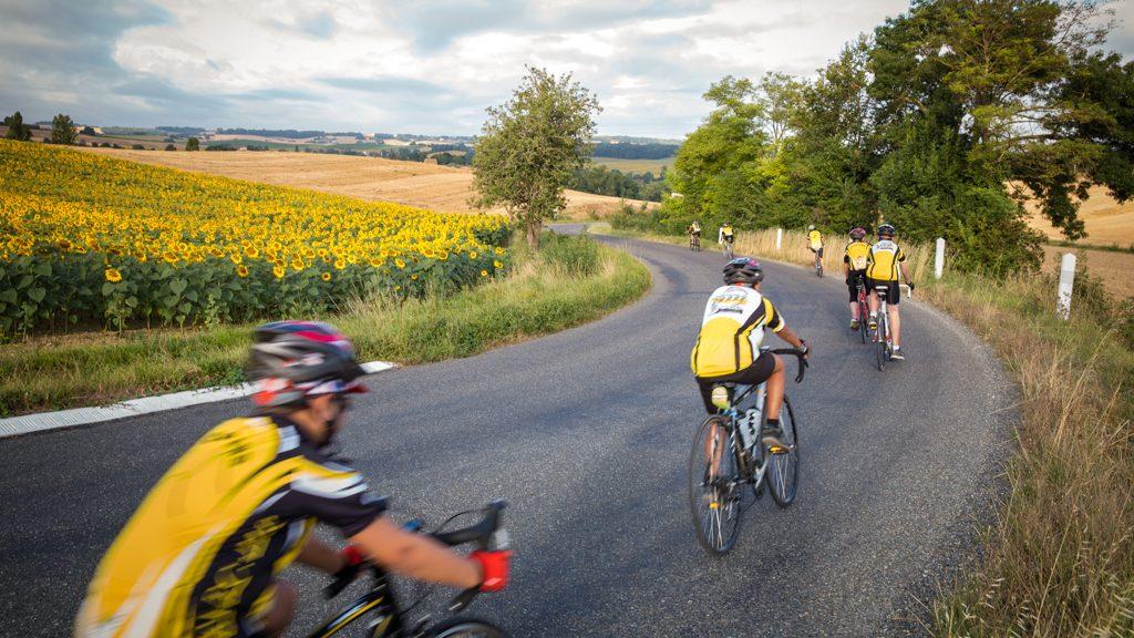 Course de vélo dans le Gers