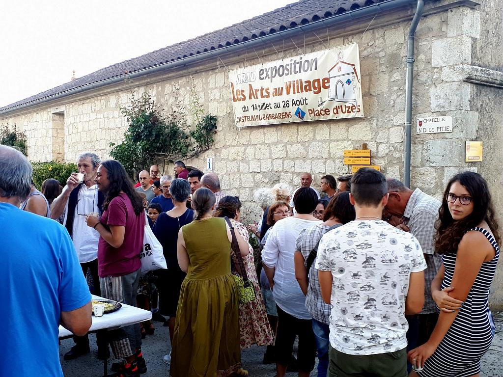 Vernissage exposition les arts au village