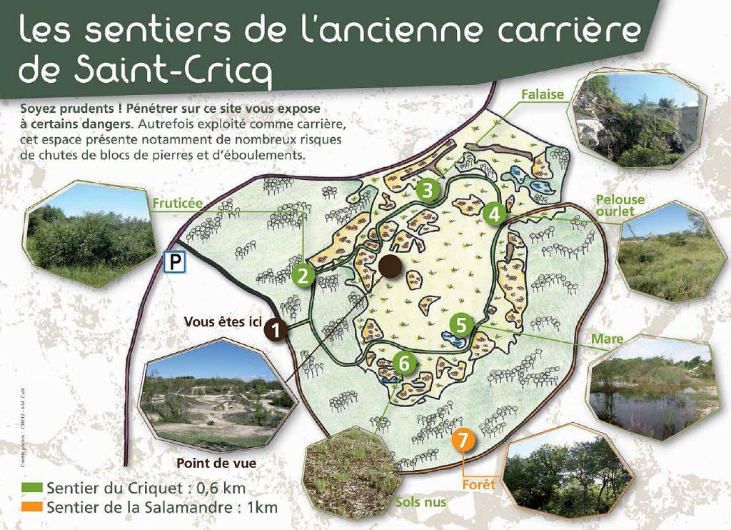 Sentier de la carrière Saint-Cricq